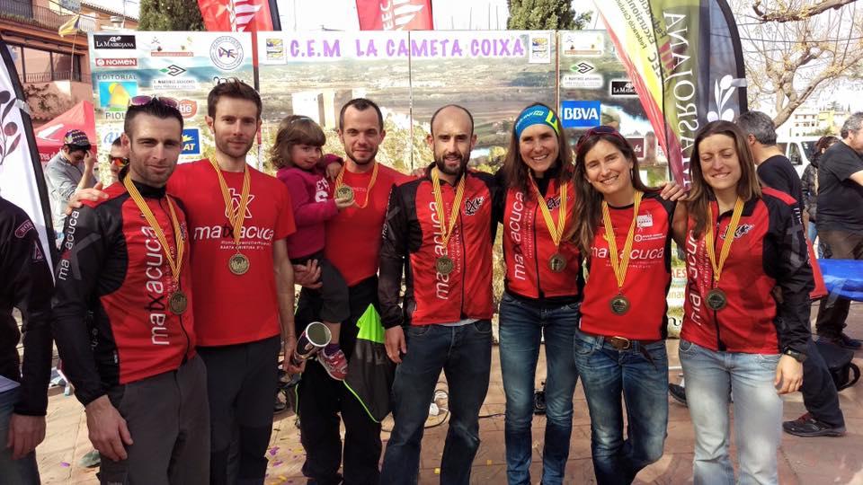 D'esquerra a dreta: Eduard Hernandez, Diego Arroyo, Jaume Quintana, Roberto Sancho, Marta Molist, Paloma Lobera, Alba Segura